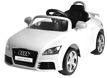 PAToys Licensed Version Audi TT Rs Plus 12v Ride On Kids Car 676R (White)