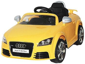 Pa Toys Licensed Version Audi TT Rs Plus 12v Ride On Kids Car 676R (Yellow)