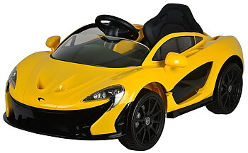 PA Toys Licensed McLaren P1 ride on car for kids (Yellow)