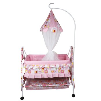 Lovley Baby Baby Kick and Play Cribs cum palna cum baby bedding set with Mosquito Net | fine quality