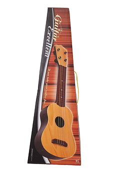 PATOYS  4-String Acoustic Guitar Learning Kids Toy, Brown 18""