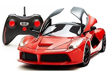 PATOYS Remote Controlled Super Car with Opening Doors, Red