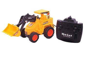 PA Toys Hercules Power Driving Remote Control Bulldozer Truck Toy For KIds (Yellow)