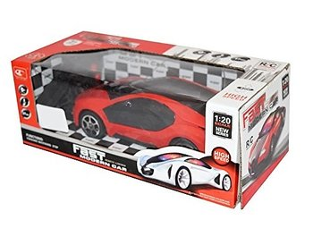 PA Toys 3D LED Light Fast Modern Car with Remote Control(Red)