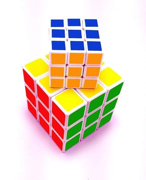 PATOYS 2 Pieces/Set Of Magic Puzzle Cube 3x3x3 Three Layer White Sticker-less Rubik's Cube For Kids