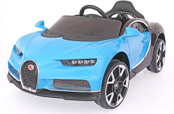 PA Toys Bugatti BDQ118812V Battery Operated Ride on Car with Remote for Kids (Blue) None Painted
