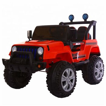 PATOYS 6688 4X4 12V Battery Operated Ride on Jeep with Music, Lights and Remote Control, Red