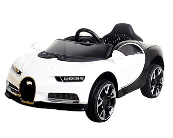PA Toys Bugatti BDQ118812V Battery Operated Ride on Car with Remote for Kids (WHITE)