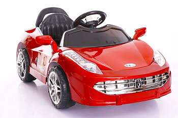 PATOYS Racing Sparks Rechargeable Battery Operated Ride-on  Car with Remote for Kids(2 to 4 yrs), Red