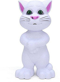 PA Toys Talking Tom musical with touch sensitive and recording 838-17 White (color may very  )