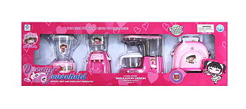 PA Toys YH438 Dream Household Set - 4 Piece (pink)