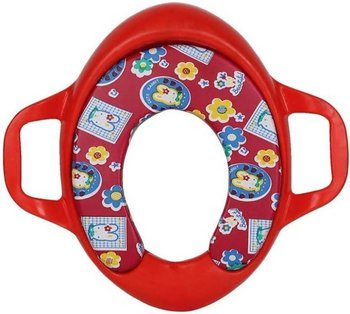PA Toys Soft Cushion Potty Trainer Comfortable Seat with Support Handles (Red)