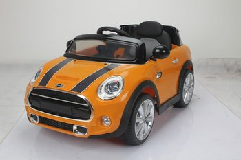 PA Toys mini cooper 12v controlled battery powered car Orange