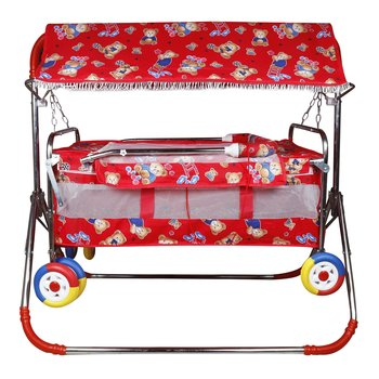 PATOYS Lovely Baby Cribs and Cradle PP01 (Red)