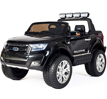 PATOYS licensed Ford Ranger Black 12v Children car For Kids Ride on with Bluetooth & FM Up to 7 years