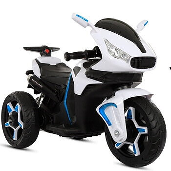 PATOYS Kids Electric Ride on Scooters 5188B 12v Upto 3 Years Kids (White)