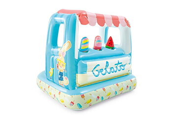 Inflatable Ice Cream Stand Playhouse Game Center and Water Game Lodge for Kids - 48672