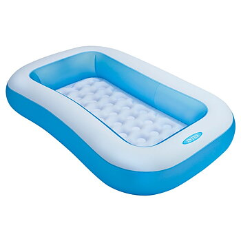 Inflatable Rectangular Pool, Multi Color - 57403NP