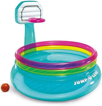 Shoot N Bounce Jump O Lene Indoor Toddler Kids Basketball Hoop Inflatable Bouncer