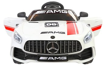 PATOYS Futuristic Benzy Plastic AMG Rechargeable Battery Operated Ride-on Car for Kids (White , 2-5 Years)