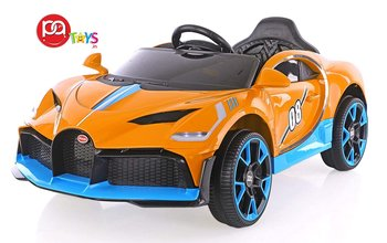 Bugatti Sports 08 Rechargeable Battery Operated Ride-On Car for Kids (2 to 6YRS) Orange