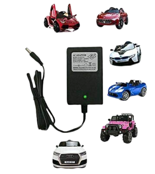 PATOYS 12V Charger for Kids Ride On Toys, 12 Volt Battery Charger for Mercedes Benz BWM Audi Maserati Children Powered Ride On Car Battery Power Adapter