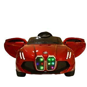 PATOYS HiFi Light and Sound Battery Operated Kids Ride on Car Red